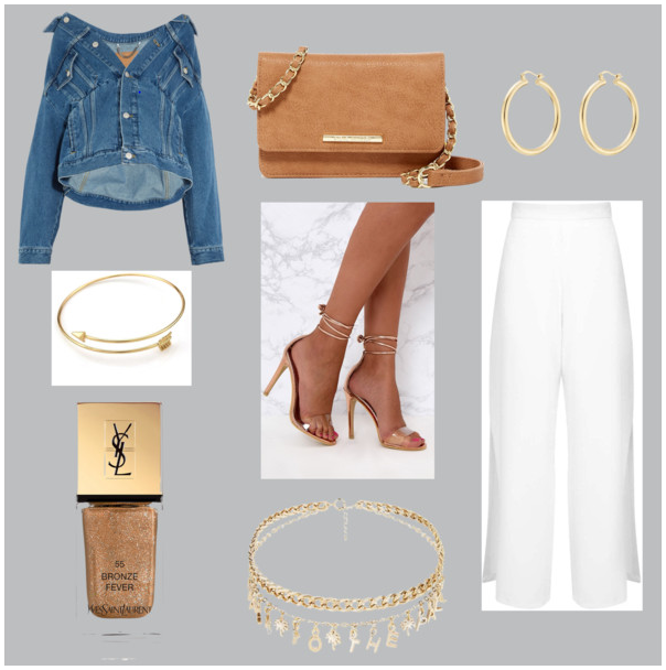 Denim event outfit